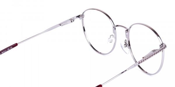 Burgundy-Silver-Round-Full-Rim-Glasses-5