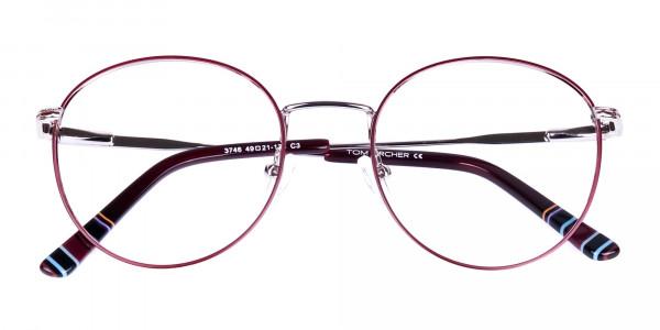 Burgundy-Silver-Round-Full-Rim-Glasses-6