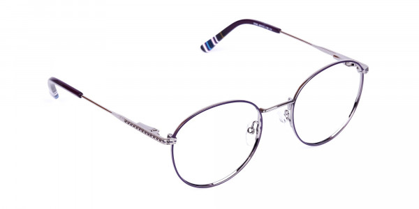 Navy-Blue-Silver-Round-Full-Rim-Glasses-2