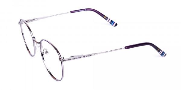 Navy-Blue-Silver-Round-Full-Rim-Glasses-3