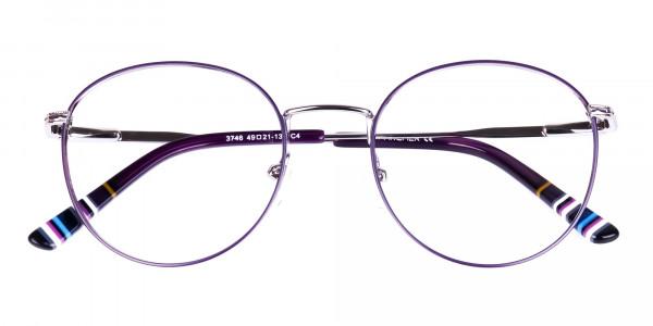 Navy-Blue-Silver-Round-Full-Rim-Glasses-6