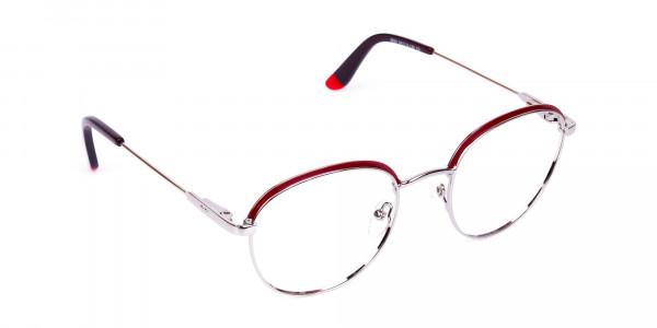 Burgundy-Silver-Round-Aviator-Glasses-2