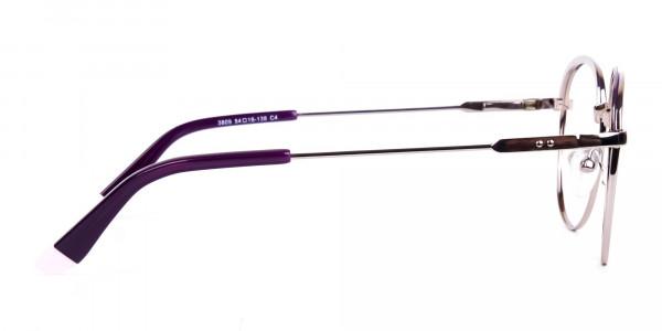 Dark-Purple-Silver-Round-Aviator-Glasses-4