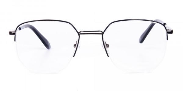 Black-Gunmetal-Geometric-Aviator-Glasses-1