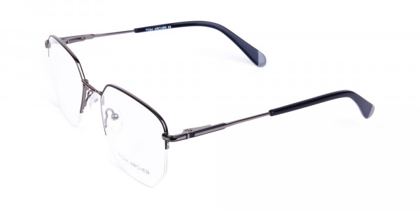 Black-Gunmetal-Geometric-Aviator-Glasses-3