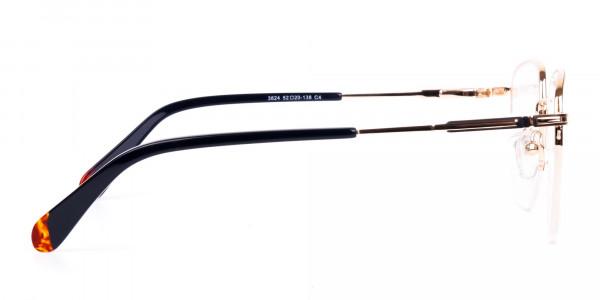 Black-Gold-Geometric-Aviator-Glasses-4