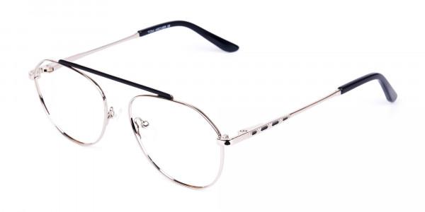 Black-Silver-Aviator-Glasses-3