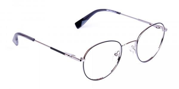 Stylish-Black-Silver-Round-Glasses-2