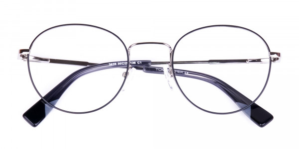 Stylish-Black-Silver-Round-Glasses-6