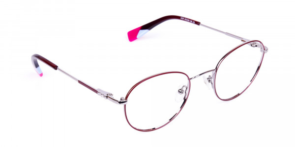 Stylish-Burgundy-and-Silver-Round-Glasses-2