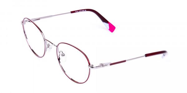 Stylish-Burgundy-and-Silver-Round-Glasses-3