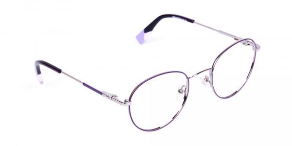 Stylish-Dark-Purple-and-Silver-Round-Glasses-2