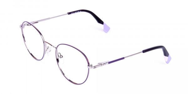 Stylish-Dark-Purple-and-Silver-Round-Glasses-3