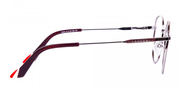 Burgundy-and-Silver-Round-Glasses-4