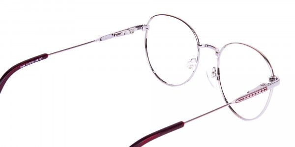 Burgundy-and-Silver-Round-Glasses-5