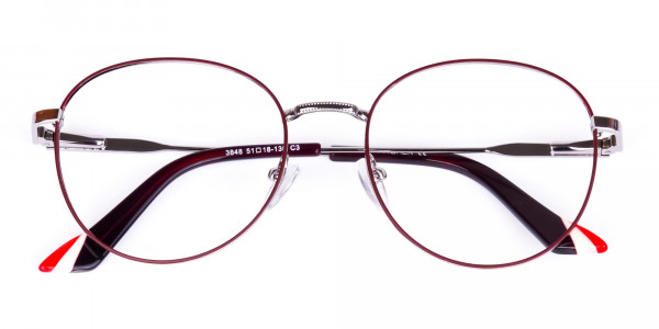 Burgundy-and-Silver-Round-Glasses-6