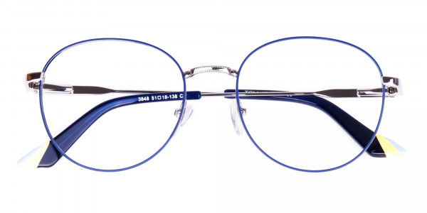 Navy-Blue-and-Silver-Metal-Round-Glasses-6