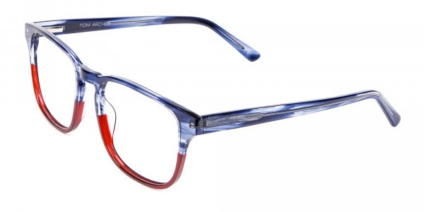 Marble Blue & Red Glasses -3