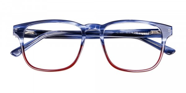Marble Blue & Red Glasses -6