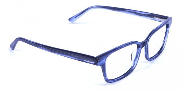 Marbled Grey Rectangular Glasses  -1