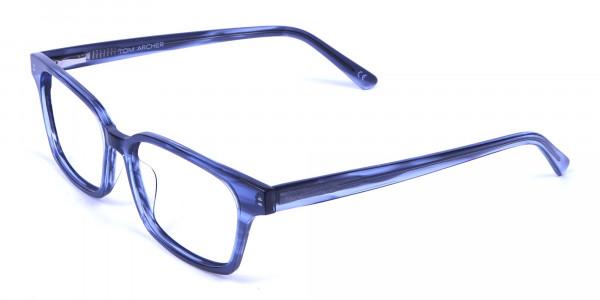 Marbled Grey Rectangular Glasses  -2