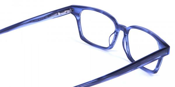Marbled Grey Rectangular Glasses -4