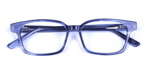 Marbled Grey Rectangular Glasses  -5