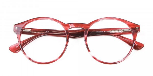 Marble Sunset Red Glasses - 5