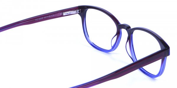 Purple Glasses for Men and Women in small face - 4