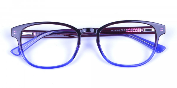 Purple Glasses for Men and Women in small face - 5