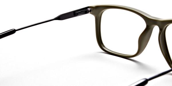 Green Rectangular Glasses for Men and Women - 4