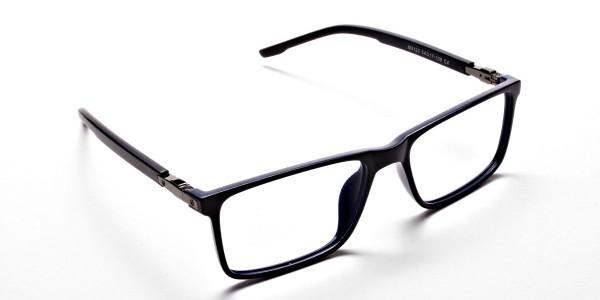 Black & Blue Computer Glasses -1