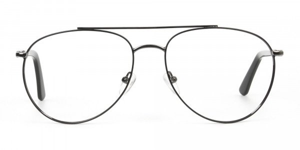 Ultralight Aviator Black & Gunmetal Glasses - 1