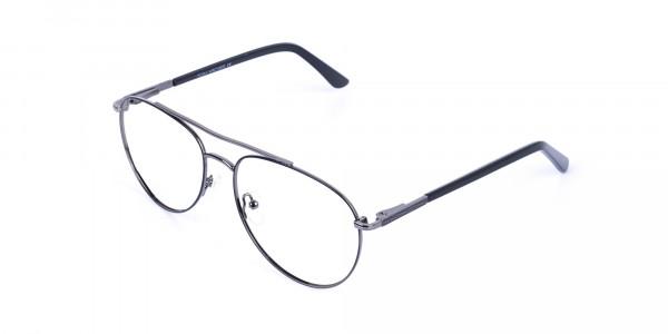 Ultralight Aviator Black & Gunmetal Glasses - 3