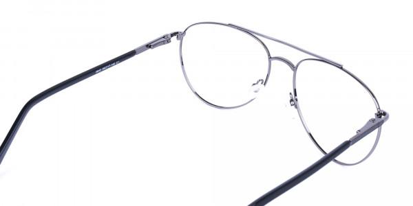 Ultralight Aviator Black & Gunmetal Glasses - 5