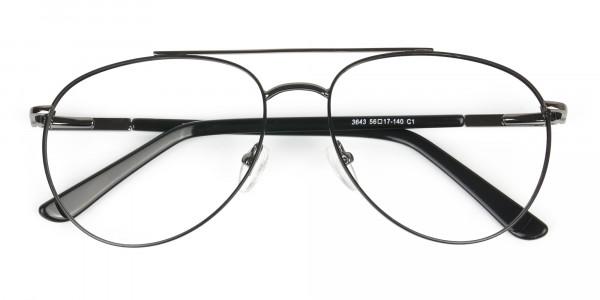 Ultralight Aviator Black & Gunmetal Glasses - 6