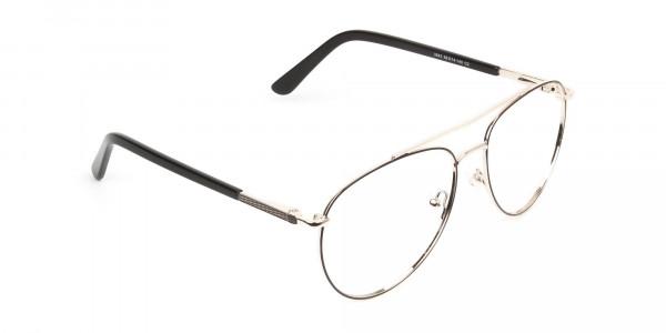 Ultralight Aviator Gold & Brown Glasses - 2