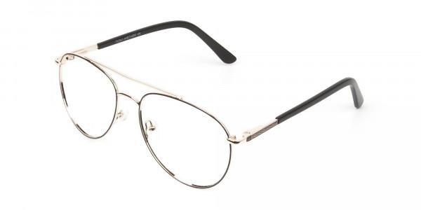 Ultralight Aviator Gold & Brown Glasses - 3