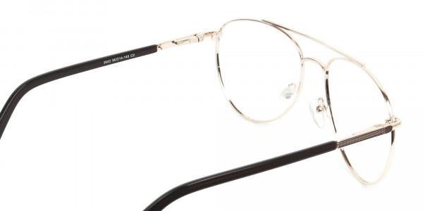 Ultralight Aviator Gold & Brown Glasses - 5
