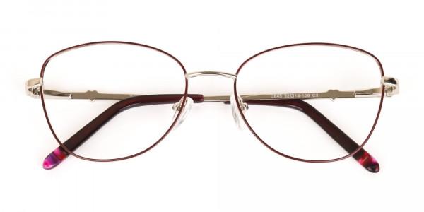 Black & Silver, Red  Metal Cat Eye Glasses Women-7