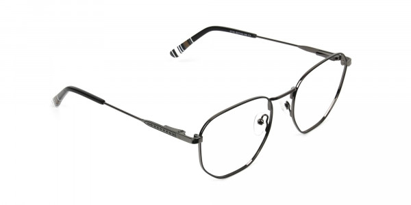 Wayfarer Geometric Gunmetal Black Spectacles - 2