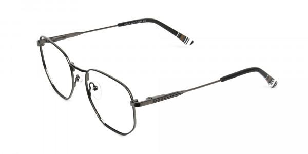 Wayfarer Geometric Gunmetal Black Spectacles - 3