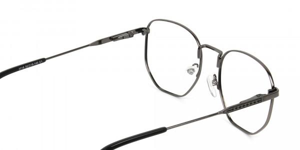 Wayfarer Geometric Gunmetal Black Spectacles - 5