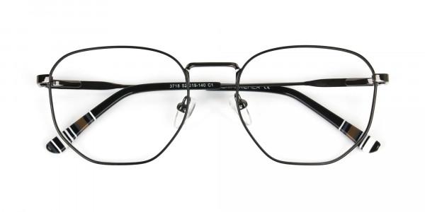 Wayfarer Geometric Gunmetal Black Spectacles - 6