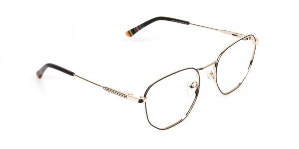 Geometric Brown & Gold Spectacles - 2