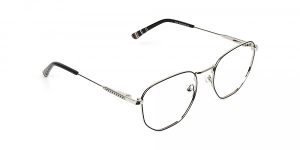 Geometric Black & Silver Spectacles - 2