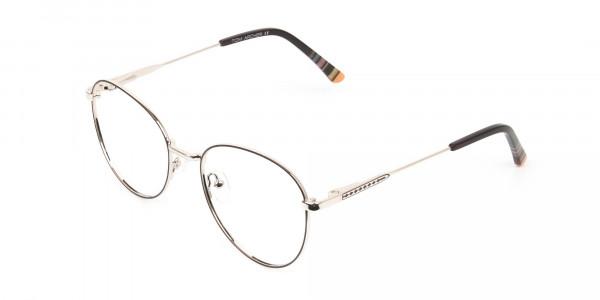 Brown & Gold Weightless Round Glasses - 3
