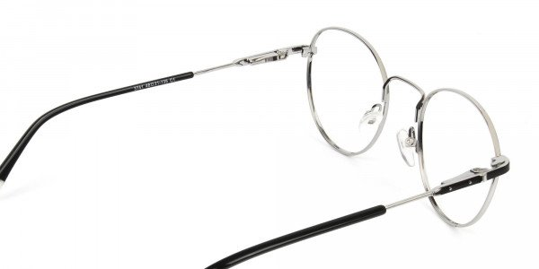 Black & Silver Round Spectacles - 5