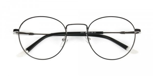 Black & Silver Round Spectacles - 6