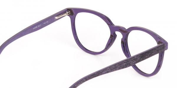Purple Dark Violet Wood Glasses Frame Unisex-5